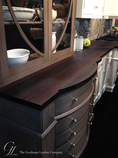 Wenge Wood Countertops by Custom Wenge Wood Countertop Displayed At Kbis 2014