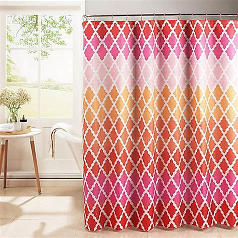Pink Trellis Curtains Buy Gateway Lattice Shower Curtain With Rings In Pink From Bed Bath Beyond