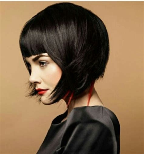 piecy bob edgy bob love the piecey pops of color hairstyle
