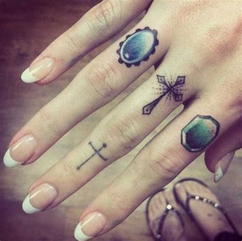 cross ring tattoos mini designs you must pretty designs