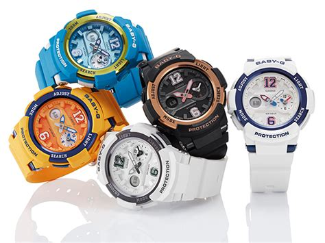 Casio Baby G Bga210 4b2dr casio to release sporty and stylish baby g watches with dual world time display
