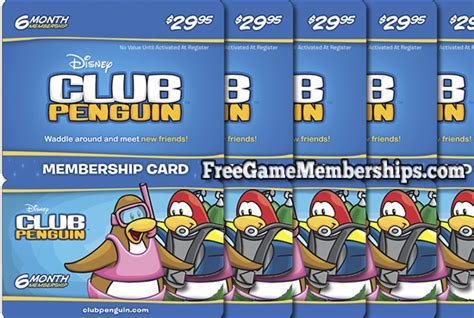 Club Penguin Gift Card Codes - free club penguin membership 2017 freegamememberships com