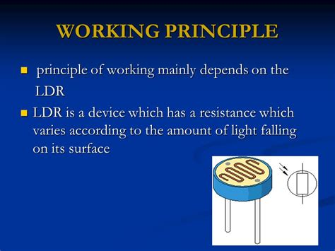 working principle of a resistor a seminar on electronic eye ppt