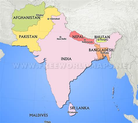 south asia countries map south asia maps and political map of roundtripticket me
