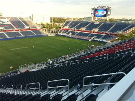 Open Section 8 In Florida by Student Section From Club Level Picture Of Fau Stadium