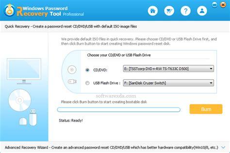 windows reset password tool tenorshare windows password recovery tool pro 6 4 3 0