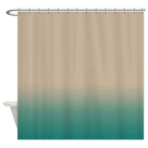 blue and green shower curtain sand and blue green shower curtain by kinnikinnicktoo