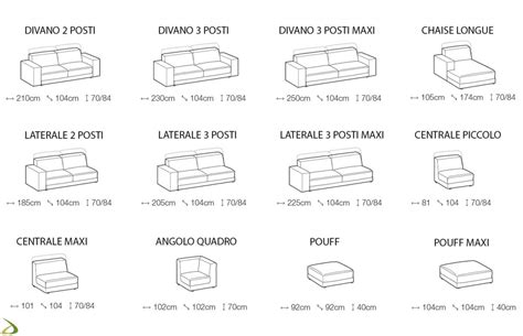 misure standard divano divano moderno componibile bolb arredo design