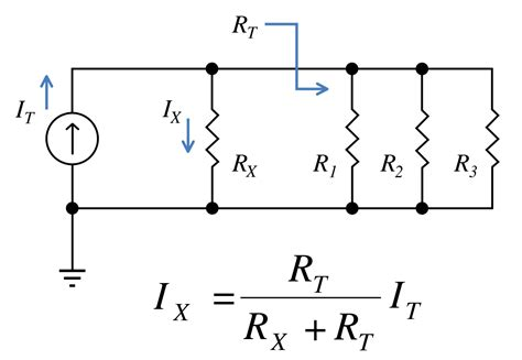 current division in parallel resistors current divider