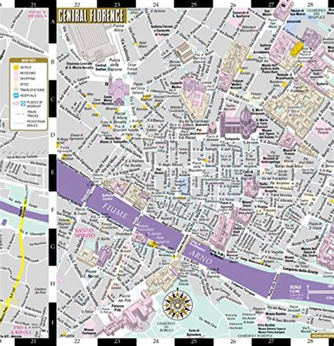 streetwise map laminated city center map of michelin streetwise maps books streetwise florence map laminated city center map
