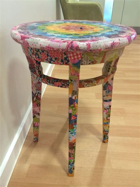 Decoupage End Table - 1000 ideas about decoupage coffee table on