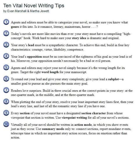 10 Tips For Writing The by Ten Vital Novel Writing Tips Become Empowered
