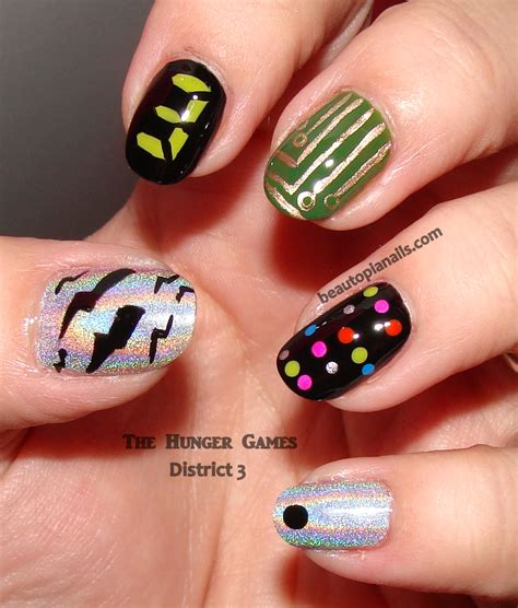 design nail art games quot hunger games quot nail art hunger games districts the