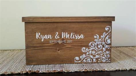wedding box with lock card box for wedding rustic card box wedding card box