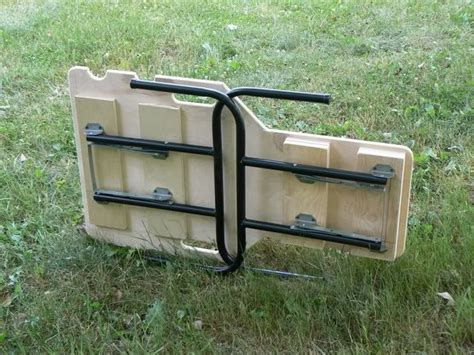 portable shooting bench building plans folding shooting bench plans easy woodworking project