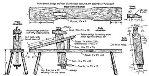 drawing horse bench plans carpenters without borders