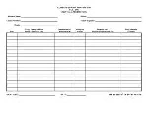 Construction Sign In Sheet Template by Driver Daily Log Sheet Template Business Forms