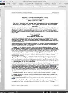 Notice Of Privacy Practices Template by Privacy Notice Template