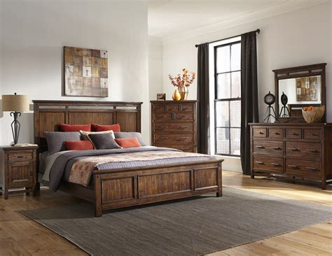 wolf furniture bedroom sets intercon furniture wolf creek 4 piece panel bedroom set in