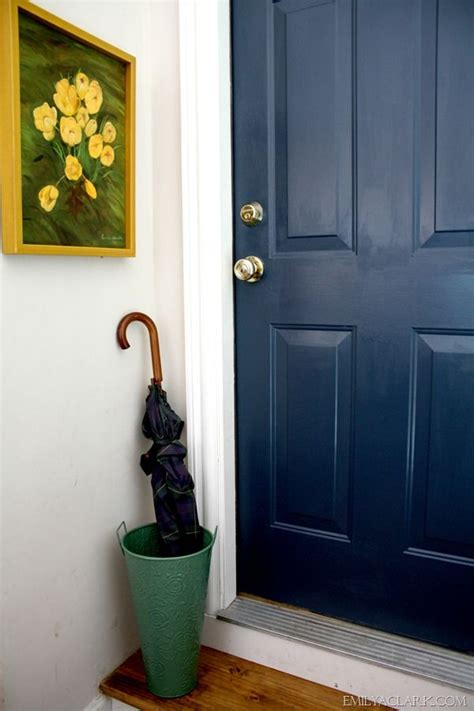 accent door colors painting our dirtiest door and a new favorite navy