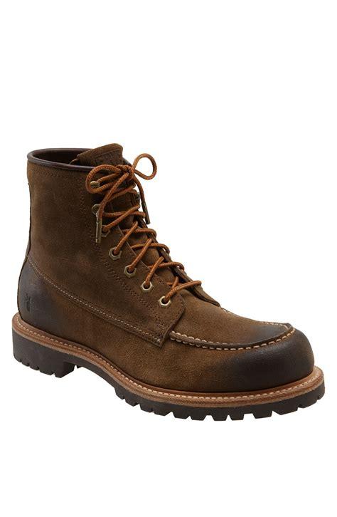 frye dakota lace up boot in khaki for fatigue
