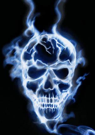 cool animated burning skull gifs   animations