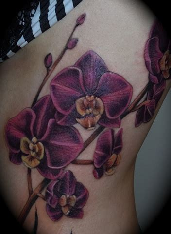 purple orchid tattoo designs orchid images designs