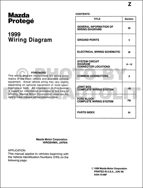 mazda protege 1996 wiring diagram wiring diagram with