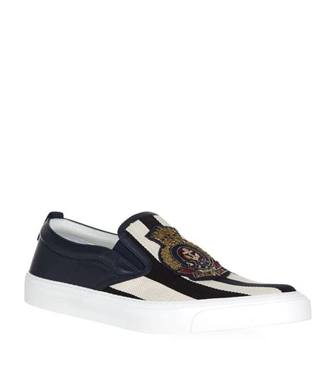 Shoes Gucci D4168 Sale Bahan Canvas gucci striped canvas slip on sneaker in blue for lyst