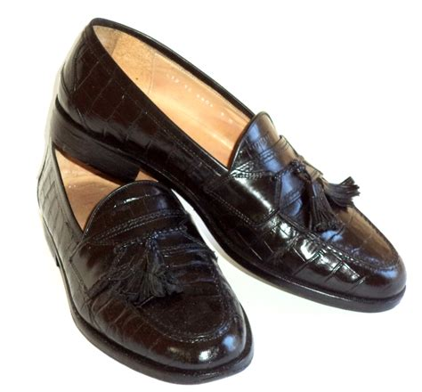johnson and murphy shoes 9 d s shoes johnston murphy black kiltie loafers new