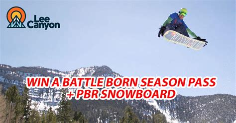 Pbr Sweepstakes 2017 - win a lee canyon season pass pbr snowboard