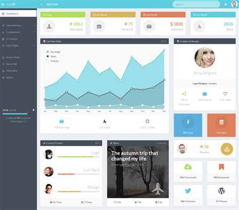 bootstrap layout ui collection of 40 free and premium bootstrap admin themes