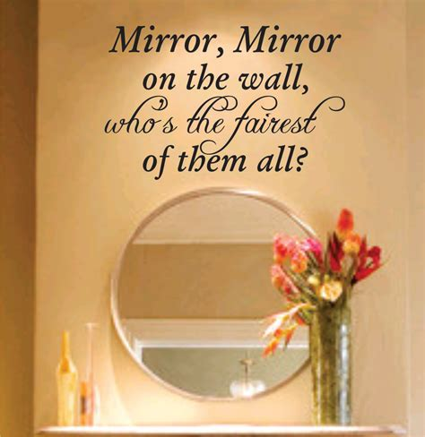 bathroom mirror quotes mirror mirror on the wall decal sticker family art graphic