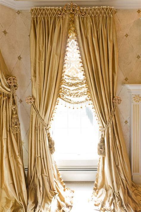 beautiful curtain beautifully smocked silk curtains with sheer roman