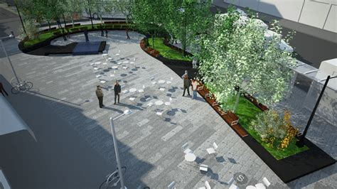 Contemporary Landscape Design by A Midst The Chaos Re Design Of Roberto Clemente Plaza