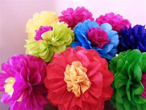 How To Make Mexican Decorations With Tissue Paper - tissue paper flowers set of 8 tissue paper flower