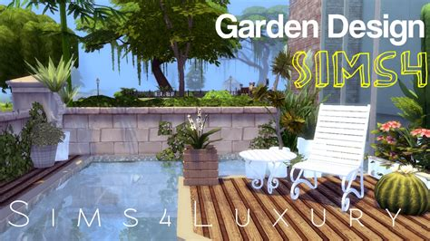Sims 4   House building   Garden Design   YouTube