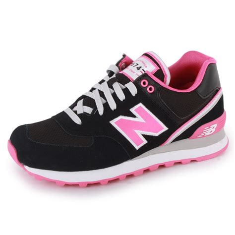 new balance stadium jacket 574 womens trainers black pink