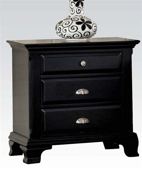 Black Nightstand Acme Black Nightstand Ac10433