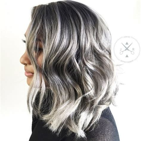 grey highlights in dark hair 30 shades of grey silver and white highlights for eternal