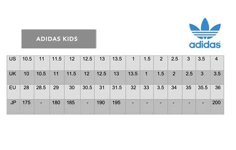 adidas kid shoes size chart style guru fashion glitz style unplugged