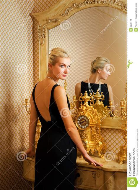 girl  luxury mirror stock image image