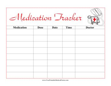 Medication Log Template Free Download Chlain College Publishing Medication Chart Template For Patients