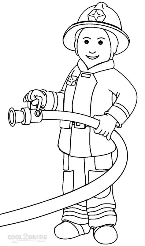 Free Printable Fireman Coloring Pages Cool2bkids Fireman Coloring Pages