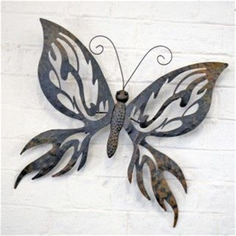 Decorative Large Metal Butterfly Garden Wall Art Black Butterfly Garden Wall