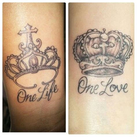 one love one life tattoo one one couples tattoos king and