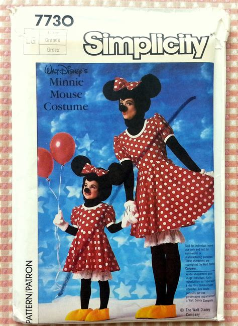 face ups on pinterest 36 pins disney minnie mouse costume sewing pattern simplicity 7730