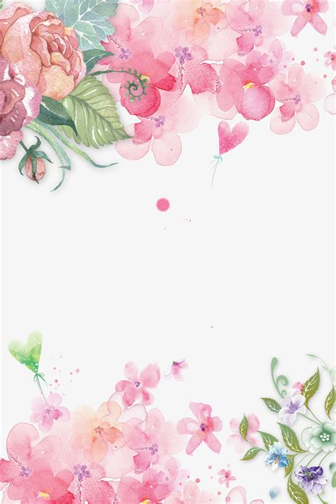 Floral In Pink painted floral pink flowers decorative background