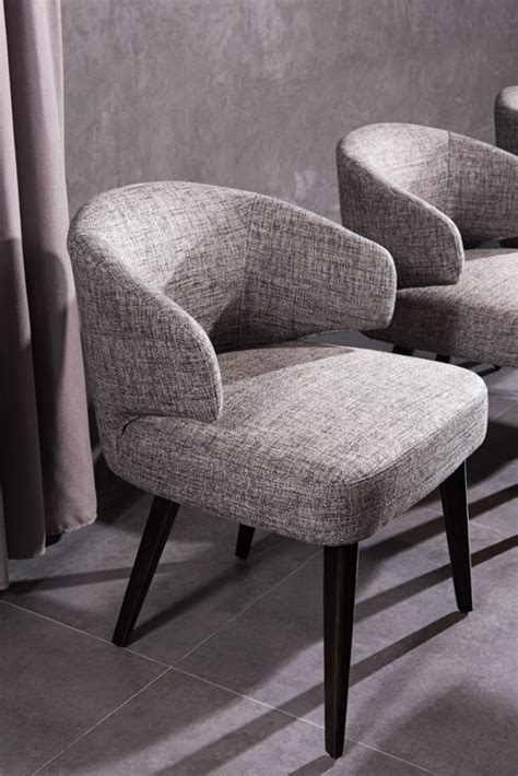 modrest carlton modern grey fabric dining chair dining