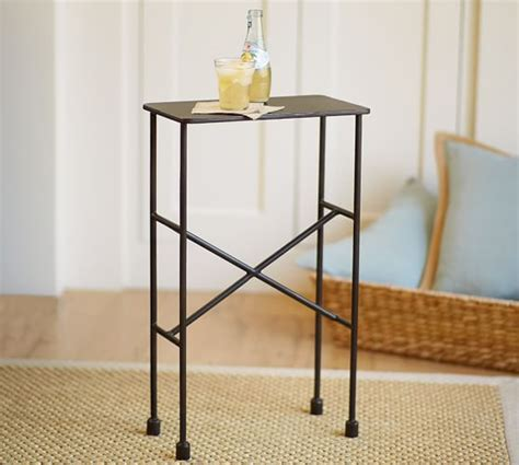 metal side tables for bedroom zane accent side table pottery barn